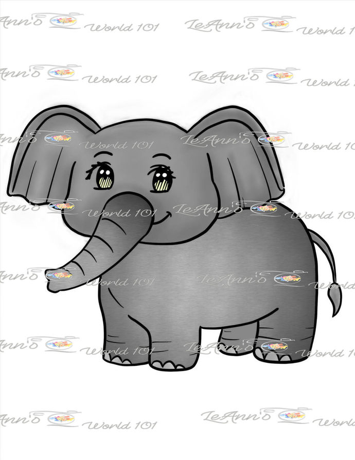 Elephant - Digital Stamp