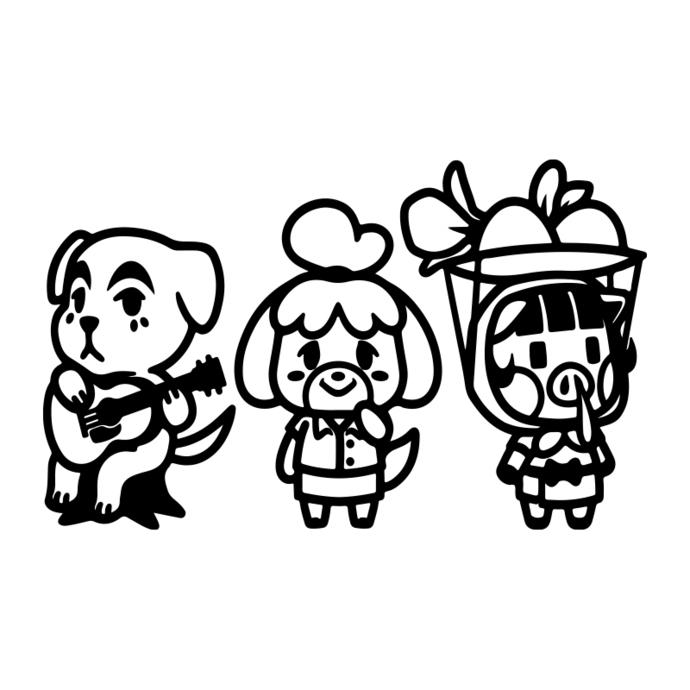 KK Slider svg, Isabelle and Daisy Mae Bundle Files , Animal Crossing Inspired