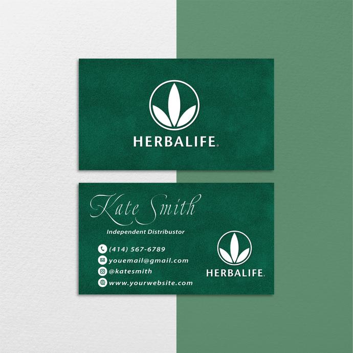 Premium Business Cards, Premium Custom Herbalife Business Cards, Herbalife Care