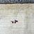 Handmade vintage Persian Gabbeh rug 3.4' x 5' (101cm x 150cm) 1970s - 1Q0017