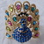 vintage Bermuda blue colorful crystals peacock clamper bracelet made by
