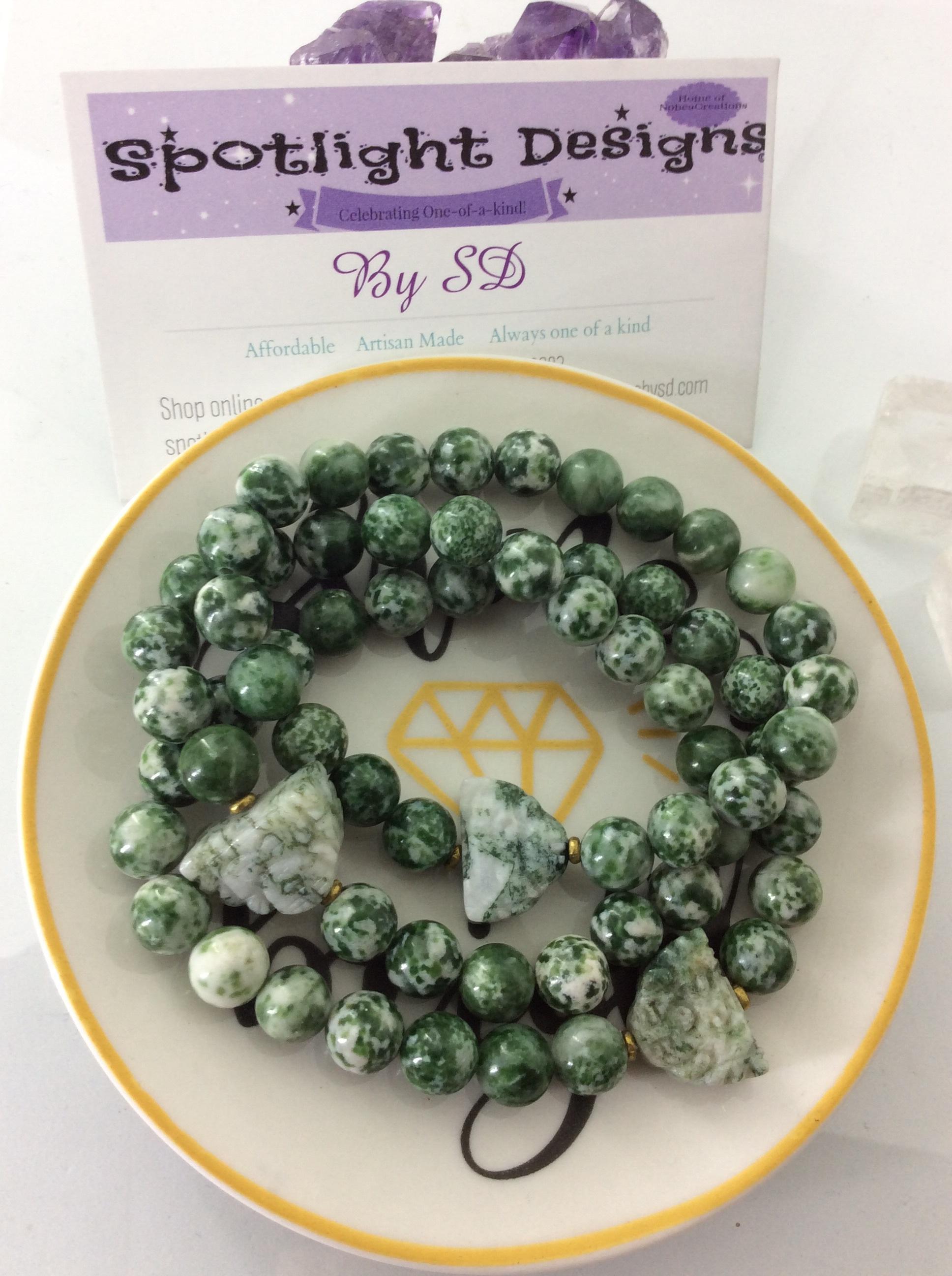 Buddha Tree Agate stretch bracelet