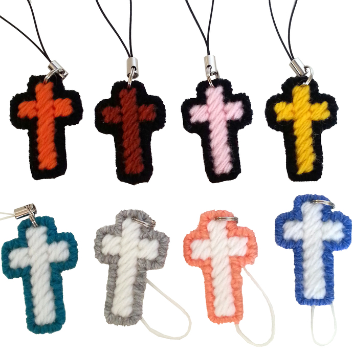 Ten Christian Cross Charm Party Favors