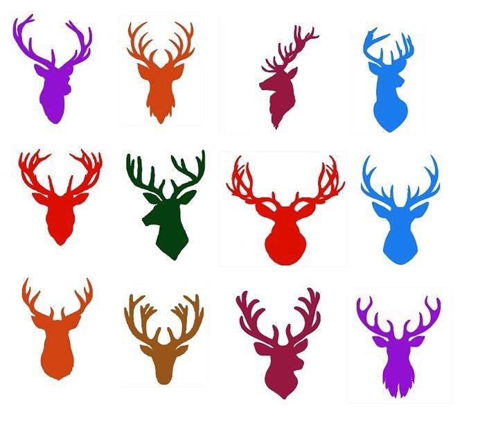 Deer head svg,cut files,silhouette clipart,vinyl files,vector digital,svg