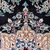 Handmade vintage Persian Nain rug with silk 4.2' x 6' (128cm x 183cm) 1970s -