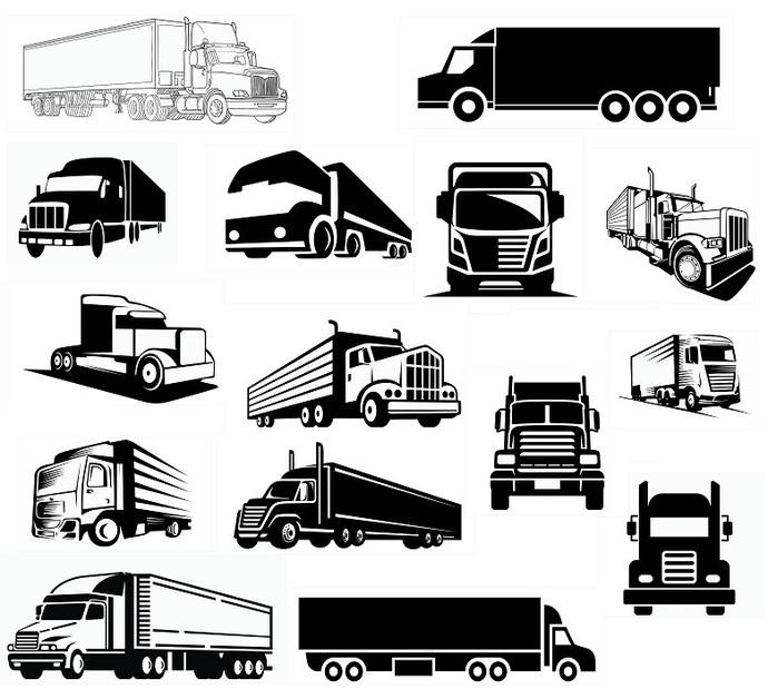 Truck svg,cut files,silhouette clipart,vinyl files,vector digital,svg file,svg