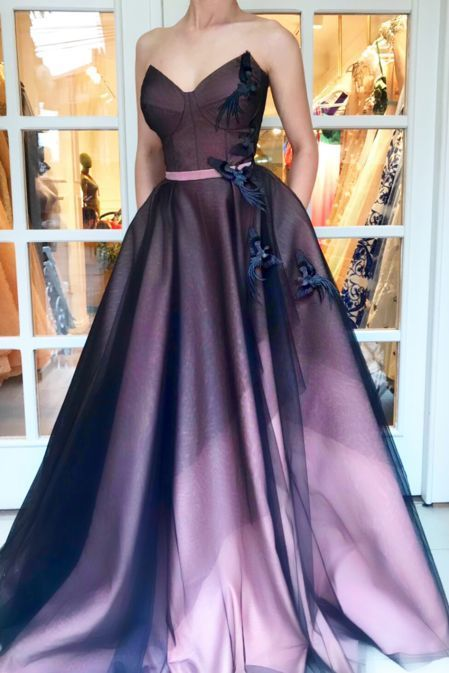 Sweetheart Satin Prom Dress , Charming Prom Dress M9430