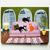 Pink Sofa Cats Original Whimsical Cat Folk Art Painting