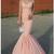Pink Prom Dresses Long Modest Mermaid Prom Dresses V-neck M9470