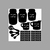 16 Decal Set of MEASURING CONVERSION Decals for Kitchens