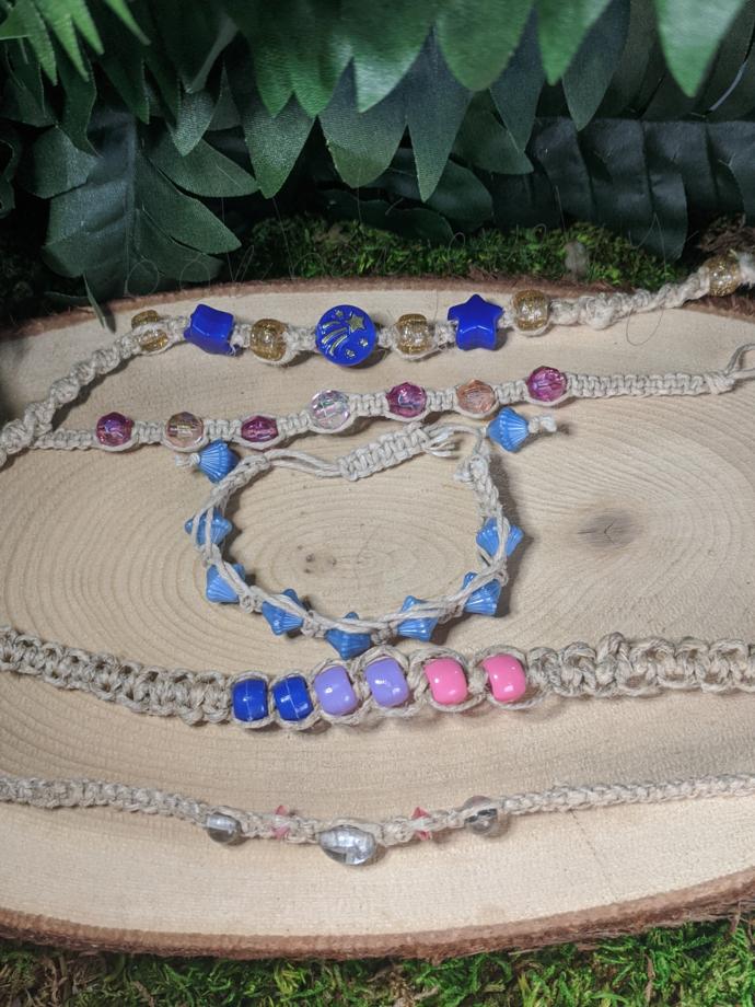 Handmade Knotted Hemp Macrame Bracelets