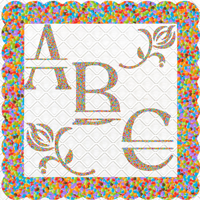 ABC 67a-Digital ClipArt-Candy-Fonts-Art Clip-Gift
