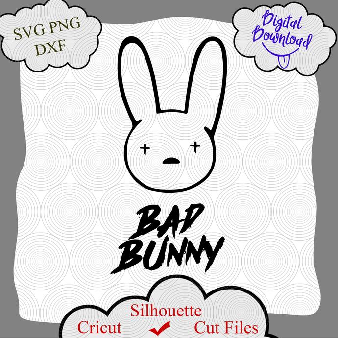 Bad Bunny Logo SVG, Bad Bunny SVG, Bad Bunny Vector, Bad Bunny Png, Bad Bunny