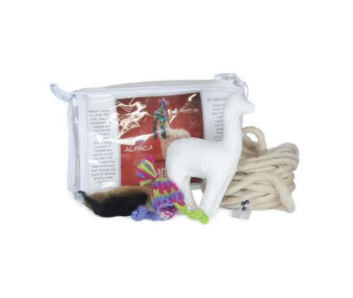 DIY Needle Felted Cria Alpaca Sculpture Kit: Felted Animals by Hand in Alpaca