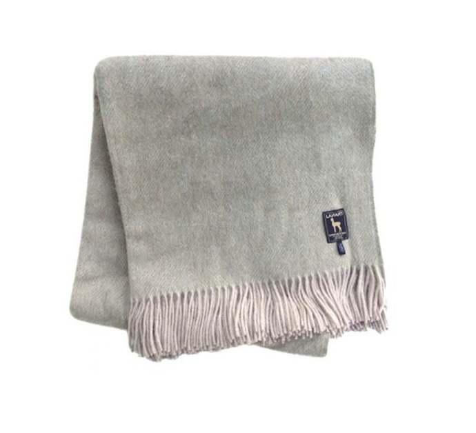 Alaska Throw Blanket: Superfine Alpaca Wool Extra Warm Natural Fiber
