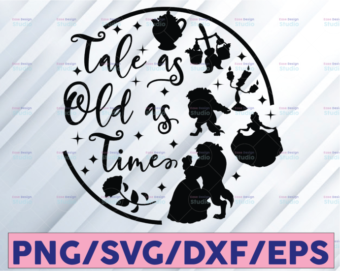 Tale as old as time svg, Beauty and the beast svg, Belle svg, Beast svg, Rose