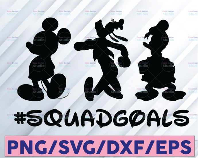 Squadgoals Mickey Bruto and Donal Disney svg, Disney Mickey and Minnie