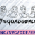 Squadgoals Outline Princess, Disney svg, Disney Mickey and Minnie svg,Quotes