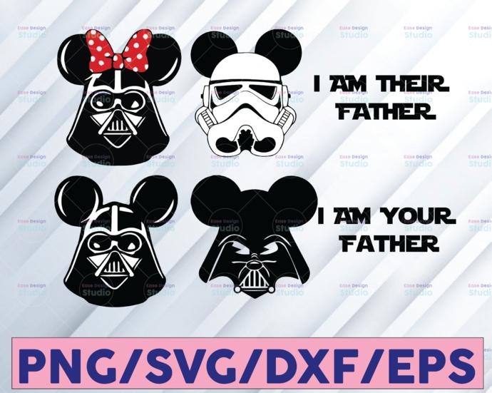 Star wars mickey mouse svg bundle, darth vader mickey svg, star wars disney svg