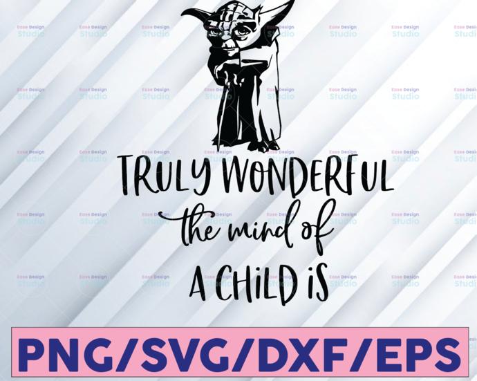 Star Wars Yoda What a Wonderful mind svg, Disney Mickey and Minnie svg,Quotes