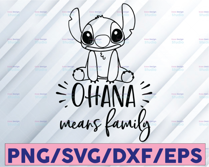 Ohana means family svg, Lilo and Stitch SVG, Stitch SVG, Lilo svg, Disney SVG,