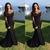 black lace evening dresses long sleeve modest beaded appliqué mermaid simple