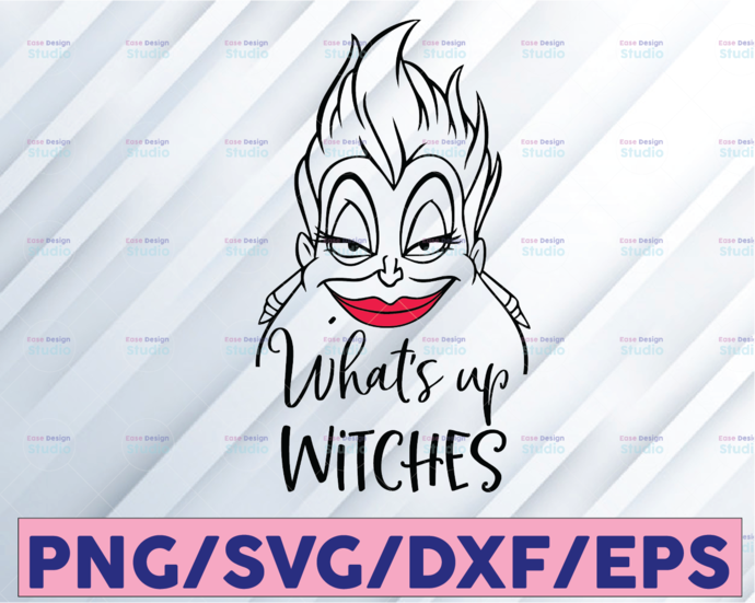 Ursula Whats up witches, the little mermaid ariel disney princess vectorized