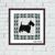Scottish Terrier dog Blue argyle ornament cross stitch pattern