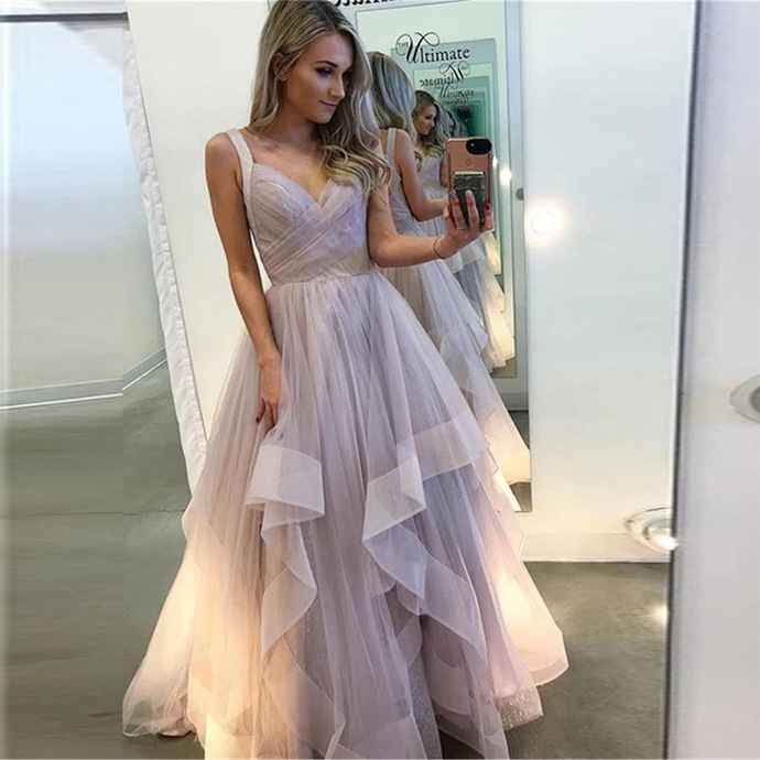 tiered purple prom dresses 2021 vestido de longo simple cheap a line prom gowns
