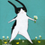 Bunny Picking Daisies Original Whimsical Rabbit Folk Art Painting