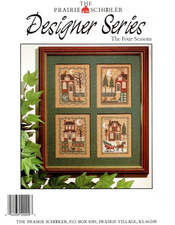 Prairie Schooler Four Seasons 80s Vintage Cross Stitch Pattern Designer Series
