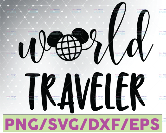 World Traveler, Disney svg, Disney Mickey and Minnie svg,Quotes files, svg file,