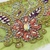 T206 Vintage Beaded Boho Trim Piece, Junk Journal Embellishments, Beaded scraps,