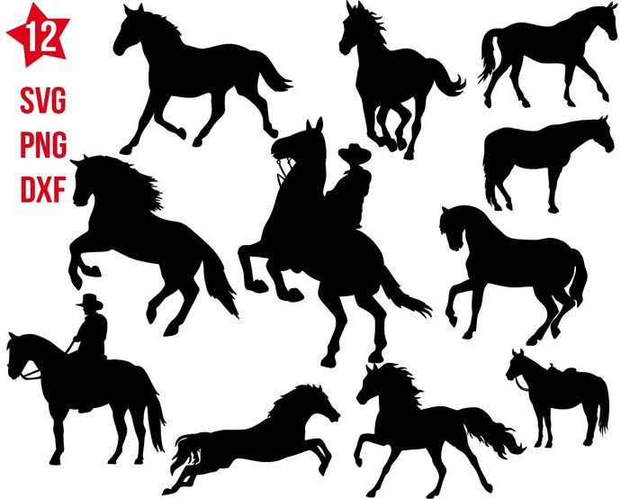 Horse svg File, Horse Head svg, Horse Clip art, Animals Stencil, Vector