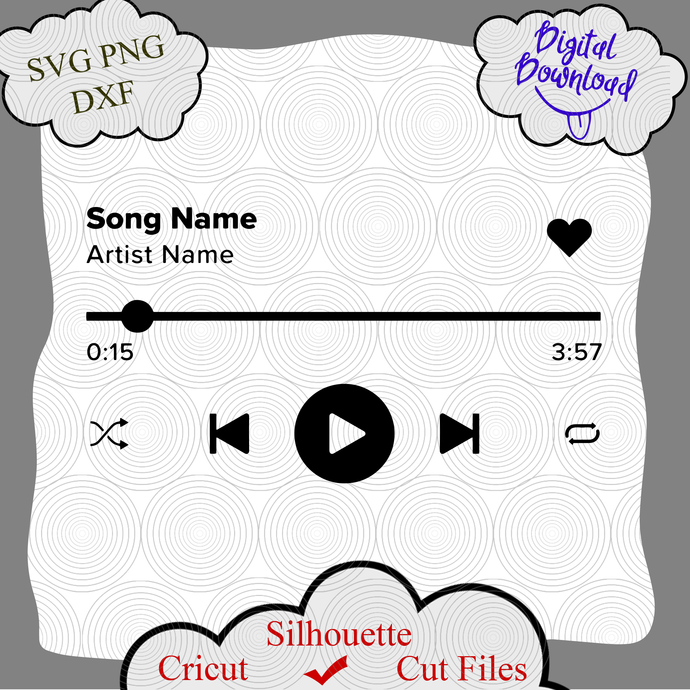 Audio Control Buttons SVG, Audio SVG, Music Player svg cutting files, Buttons