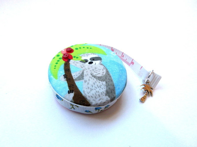 Tape Measure Fun Sloths on Vacation Small Retractable Measuring Tape