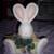 Rag Mop  Rabbit, Statue, figurine, ceramic, Home Décor, Decoration, Handmade,