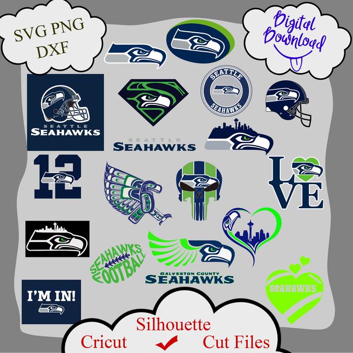 Seattle seahawks bundle logo sport svg, Seattle seahawks  bundle svg, Seattle
