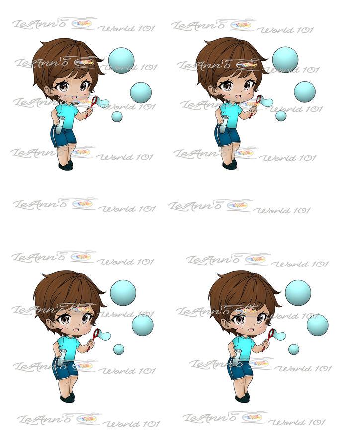 Blowing Bubbles  - Pre-Colored