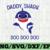 Daddy Shark SVG, Cricut Cut files, Shark Family doo doo doo Vector EPS,