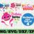 Birthday Shark Girl SVG, Cricut Cut files, Shark Family doo doo doo Vector EPS,