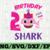 Shark 2nd Birthday Svg, Girl Birthday Shark Svg Dxf Eps, Girl Second Birthday