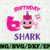Shark 6th Birthday Svg, Girl Birthday Shark Svg Dxf Eps, Girl Sixth Birthday