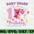 Shark 1st Birthday Svg, Girl Birthday Shark Svg Dxf Eps, Girl First Birthday