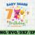 Shark 7th Birthday Svg, Boy Birthday Shark Svg Dxf Eps, Boy sevth Birthday