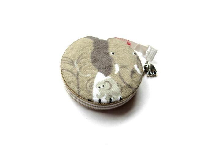 Tape Measure Tan Elephants Small Retractable Measuring Tape