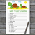 Turtle Baby Word Scramble Game,Cute Turtle Baby shower games,baby shower game
