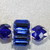 Cobalt Blue Crystal Statement Necklace, Green Crystal Bridal Necklace. Red