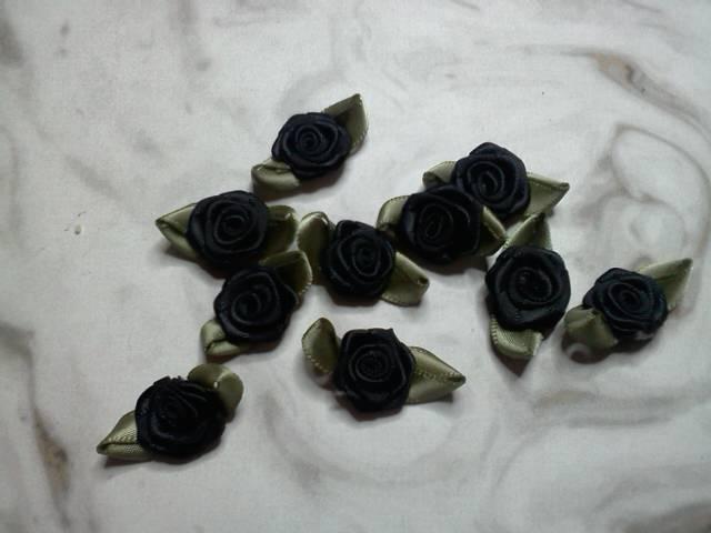 Black Fabric Flowers*