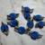 Royal Blue Fabric Flowers*